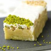 Recette cake à la rhubarbe, pistache et yaourt