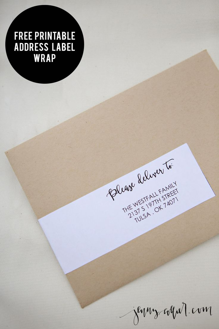 Address Label Wrap Printable