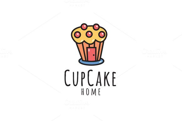 CupCake Home Logo by wopras on @creativemarket