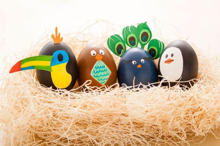 Basteln mit Kindern zu Ostern- Ideen für ausgepustete Ostereier
