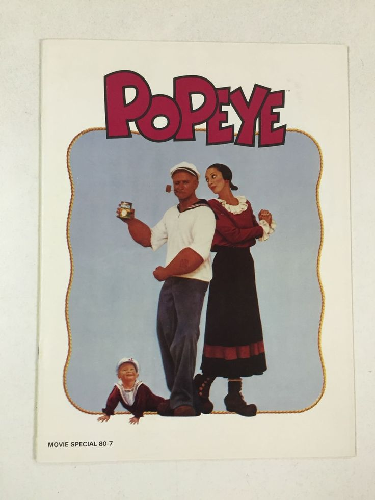 POPEYE MOVIE Program ROBIN WILLIAMS SHELLY DUVALL 1980 Harry Nilsson VINTAGE in Entertainment Memorabilia, Movie Memorabilia, Programs | eBay