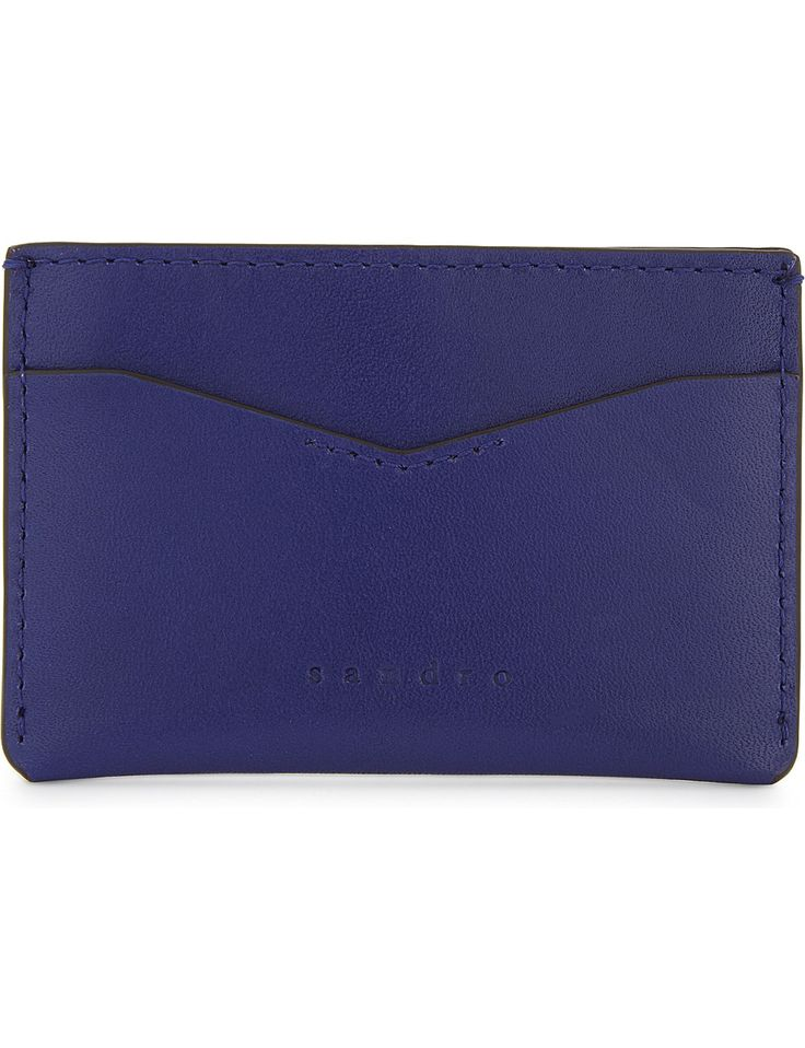 SANDRO Leather card holder