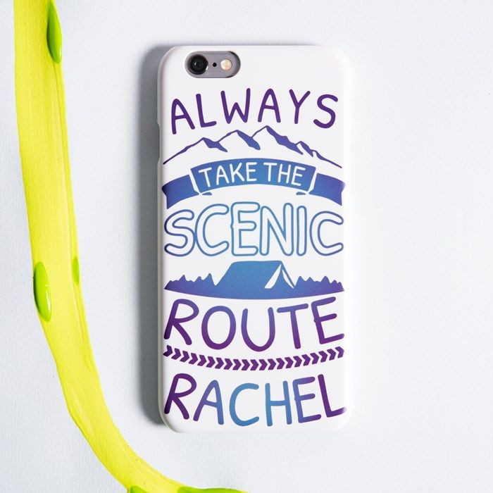 Personalised iPhone Snap Cover - Take The Scenic Route | GettingPersonal.co.uk
