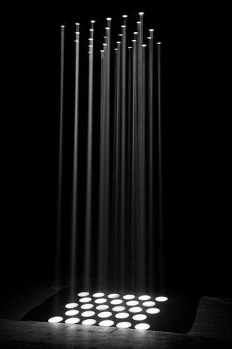 exhibition light black and white B
