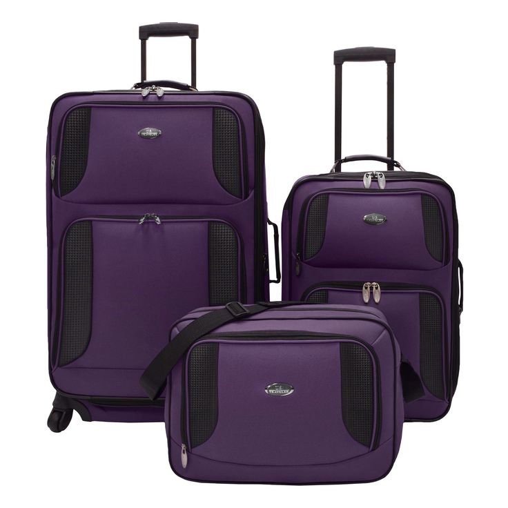 U.S. Traveler Bridgetown 3-piece Expandable Luggage Set | Overstock.com Shopping - The Best Deals on Three-piece Sets