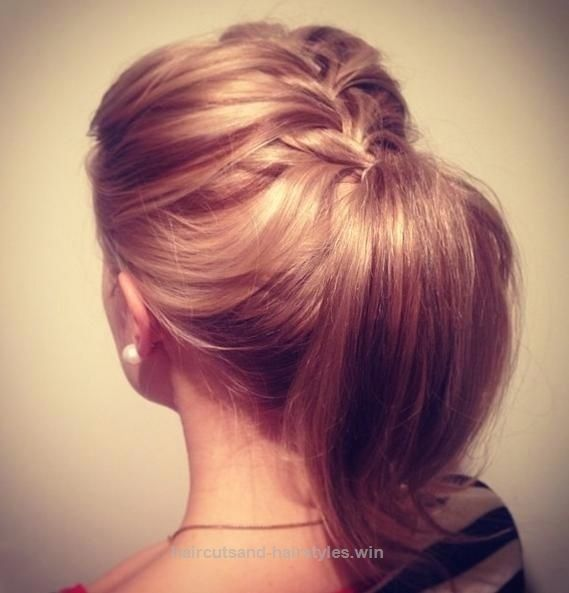 Look Over This Braided Ponytail Hairstyle for Medium Hair  The post  Braided Ponytail Hairstyle for Medium Hair…  appeared first on  Haircuts and Hairstyles .