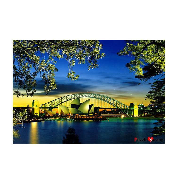 Jigsaw Puzzle 1000 Opera House at Sunset Trees Foreground by KOREA Blue Castle  #BlueCastle