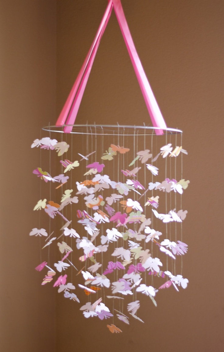255 best diy mobiles images on pinterest crafts garlands and butterfly baby mobile arubaitofo Image collections