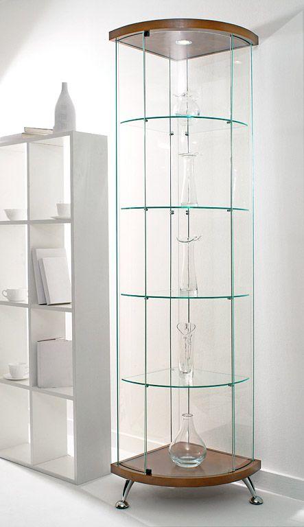 Угловая витрина | Стеклянные витрины