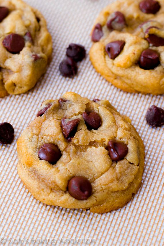 Soft-Baked Chocolate Chip Cookies. Cornstarch is the secret ingredient to making these cookies so perfect. sallysbakingaddiction.com