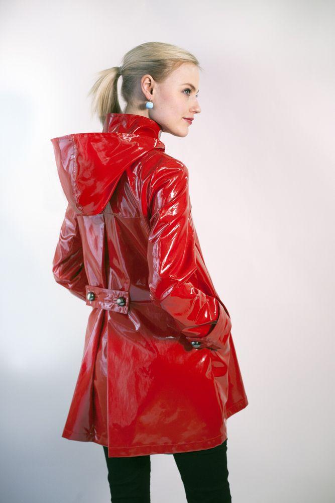 Red Pvc Coat