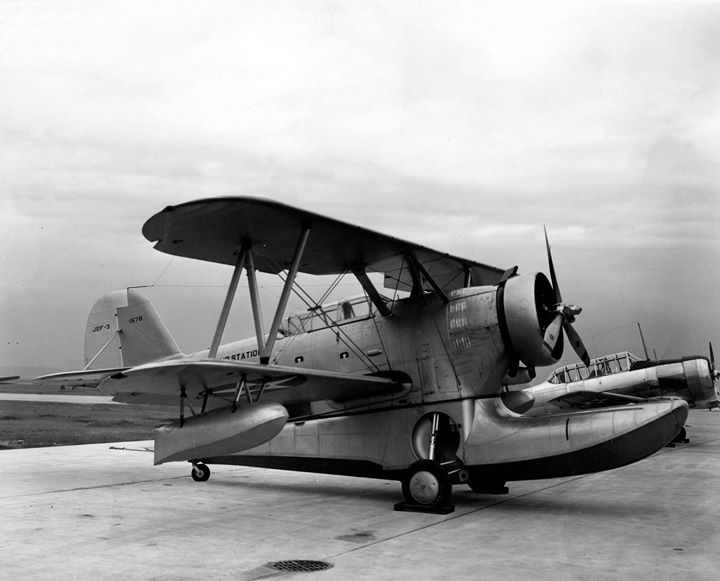 J2F-3 Duck aircraft at Naval Air Station Jacksonville Florida United States 1940.