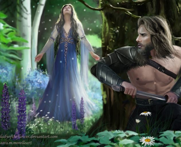 Берен и Лутиэн Beren and Luthien at first sight by Ladyoftheflower