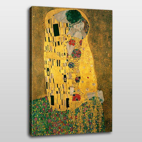 İlk öpücük kanvas tablo, tutku ile renklerin karışımını gözler önüne seriyor.