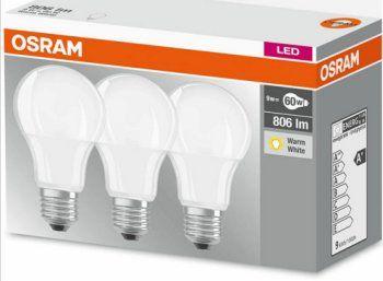 Ebay: Dreierset LED-Birnen von Osram für 9,95 Euro frei Haus https://www.discountfan.de/artikel/technik_und_haushalt/ebay-dreierset-led-birnen-von-osram-fuer-995-euro-frei-haus.php Bei Ebay ist für einen Tag ein Dreierset LED-Birnen von Osram mit je neun Watt Verbrauch zum Schnäppchenpreis von 9,95 Euro mit Versand zu haben. Die Marken-Birnen verfügen über einen klassischen E27er-Sockel. Dreierset LED-Birnen von Osram für 9,95 Euro frei Haus (Bild: Ebay..de) Das Dreie