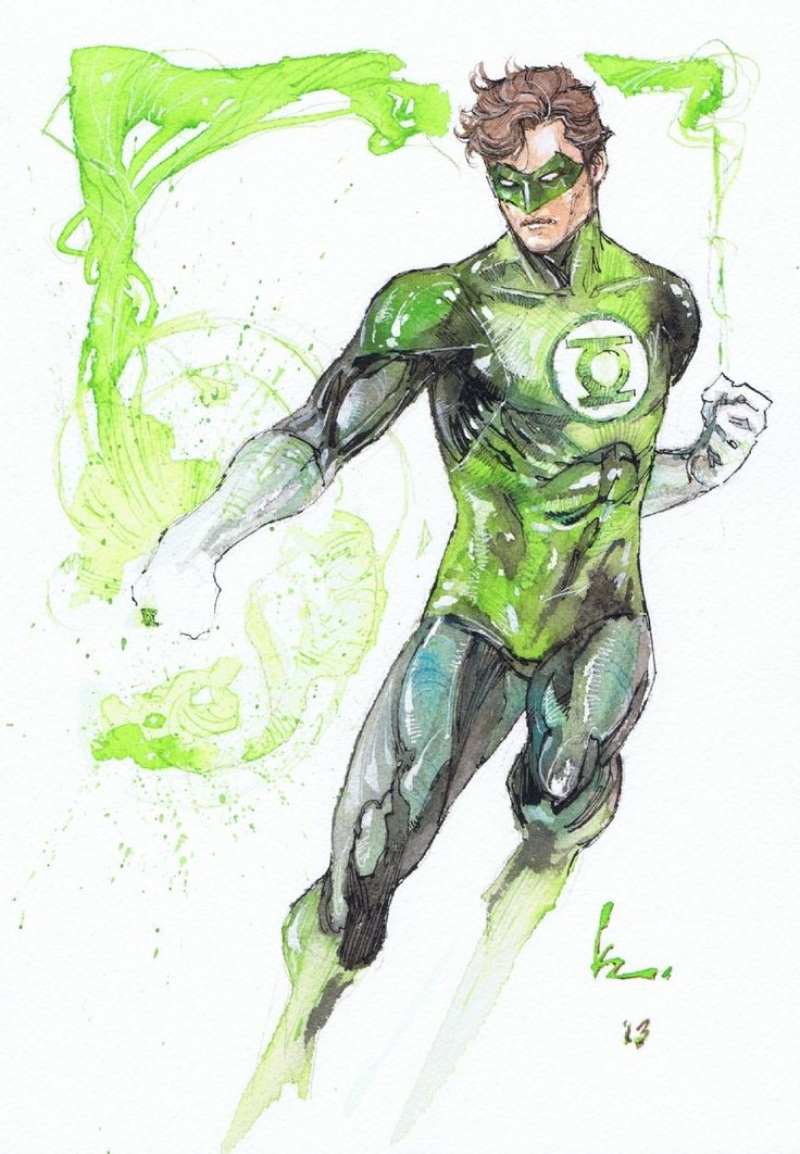 Love the style, he looks simultaneously fluid and strong. Green Lantern - Kenneth Rocafort | HW