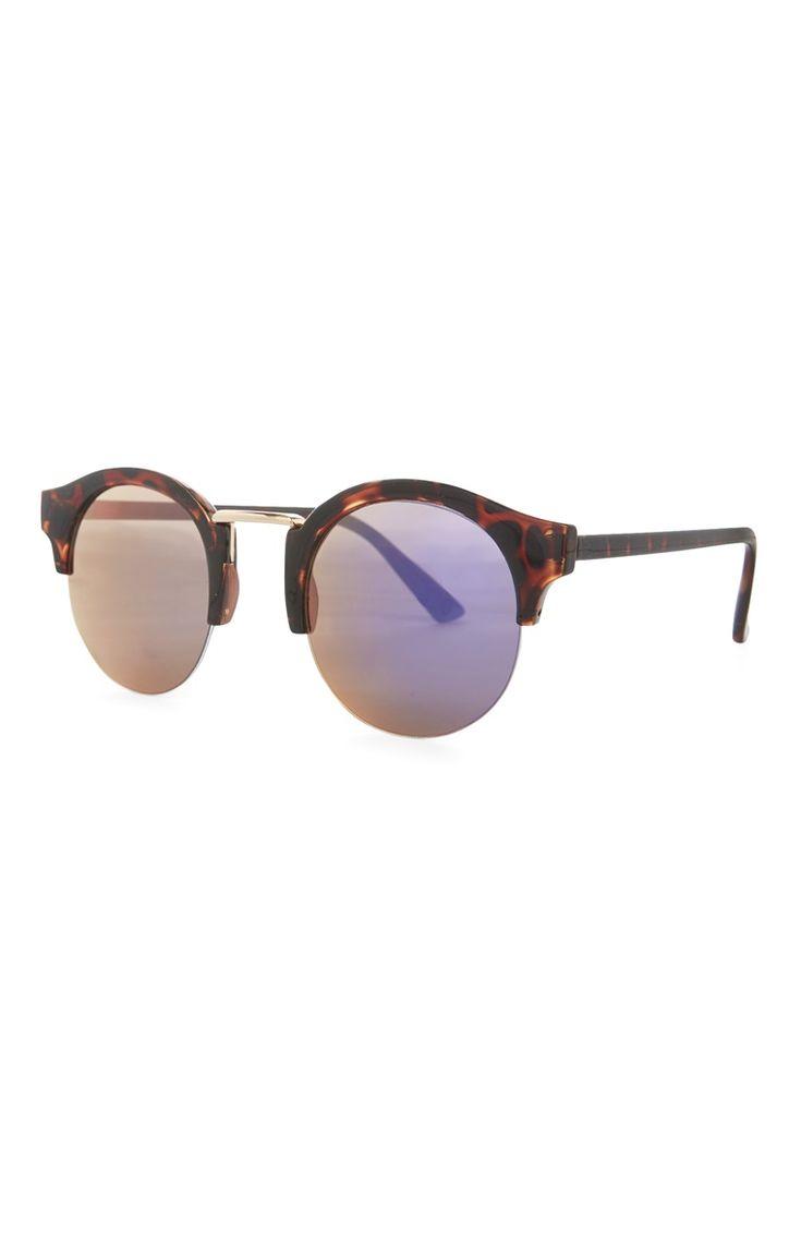 Verspiegelte Sonnenbrille in Schildpattoptik