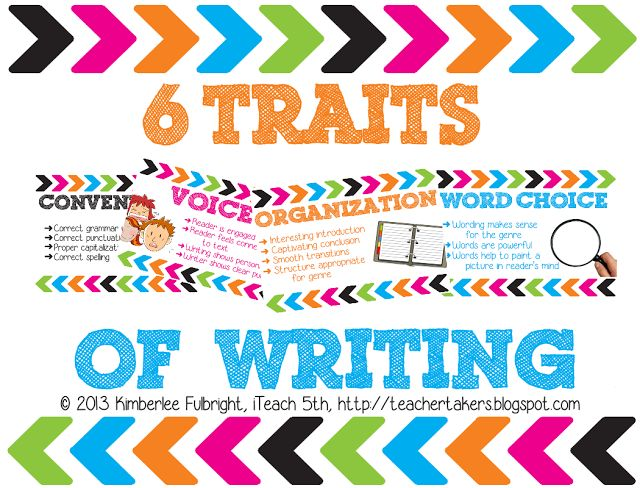 6 Traits of Writing Posters - iTeach 5th