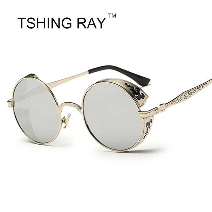 Vintage Round Steampunk Sun Glasses Fashion Men Women Carving Frame Luxury Sunglasses UV400 Male Female Steam Punk Hip Hop Point #clothing,#shoes,#jewelry,#women,#men,#hats,#watches,#belts,#fashion,#style