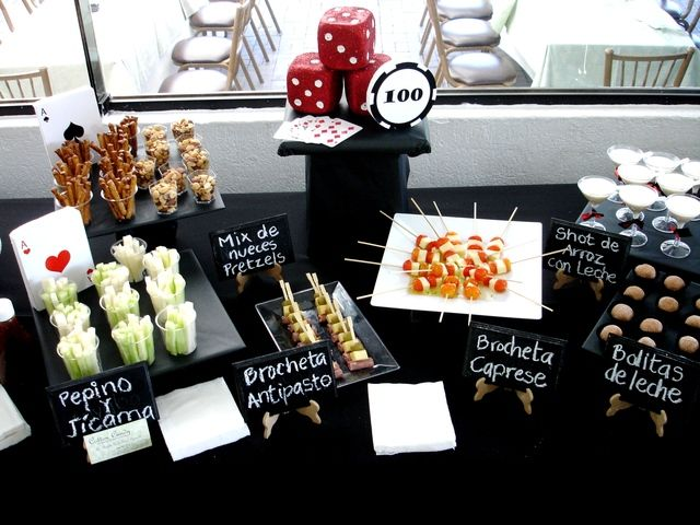 casino theme party food