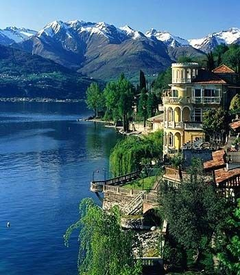 Lake Como, Italy - Click image to find more Travel & Places Pinterest pins