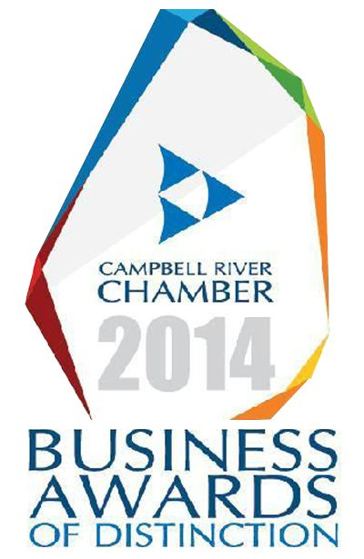 We are honoured and excited to be nominated in not one but two categories in the 2014 #CampbellRiver Business of Distinction Awards! The two categories we've been nominated for are: 'Micro Business of the Year' and 'Community Spirit Award'.
