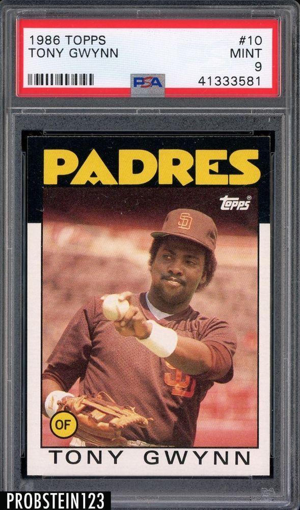 1986 Topps 10 Tony Gwynn Hof Padres Psa 9 Mint Sports