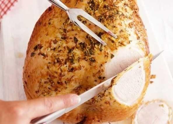 Orange and thyme roasted turkey crow image