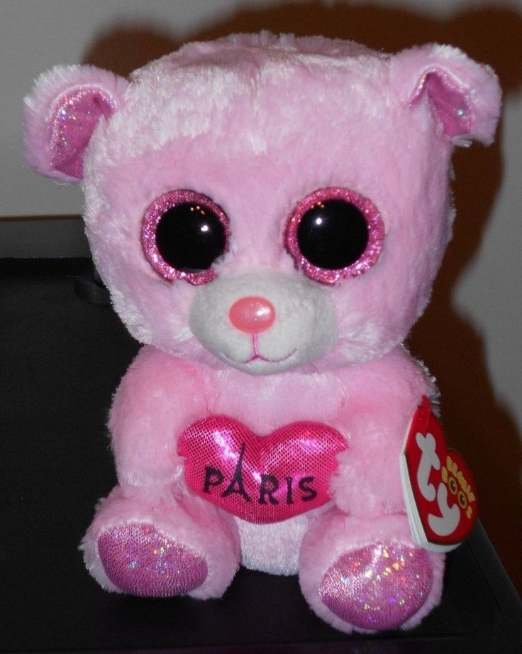 "Ty Beanie Boos ~ PARIS the 6"" Bear ~ Exclusive ~ NEW with MINT TAGS ~ RARE & HTF"