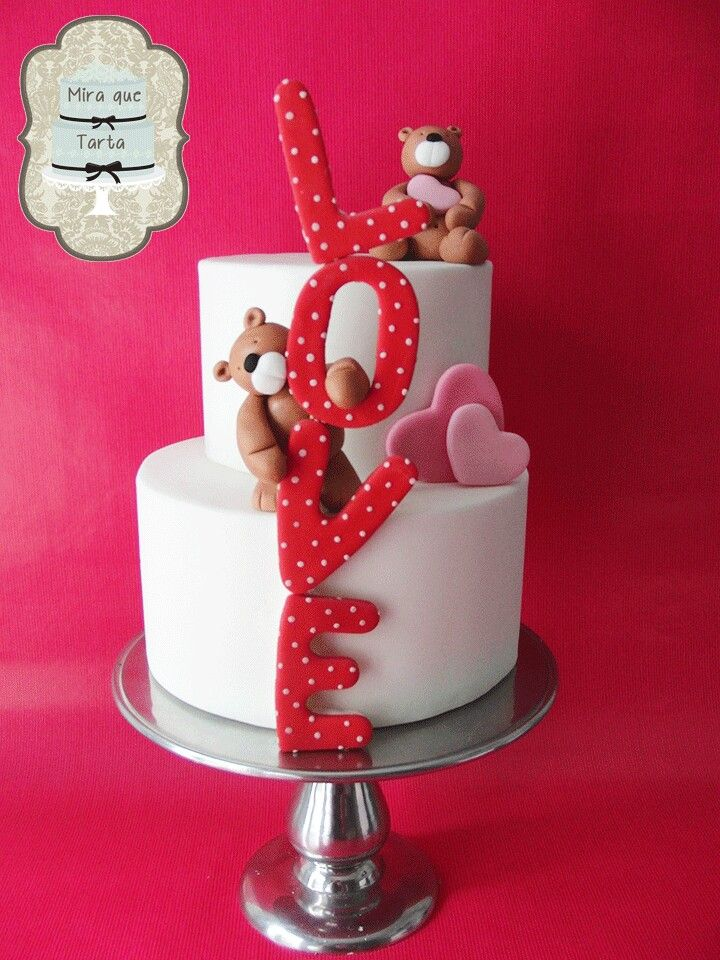 Love, bears cake  by #miraquetarta