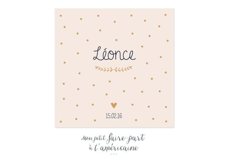 Faire part naissance http://www.monpetitfairepartalamericaine.fr