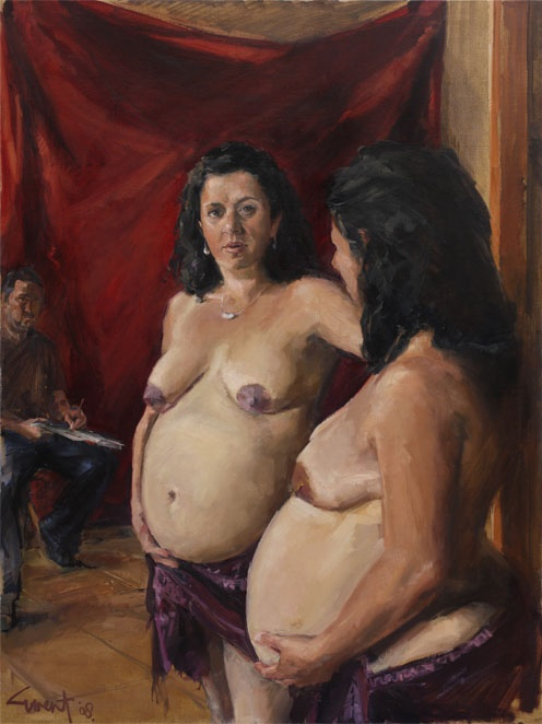 "'Ivana's Tummy'   2008 oil on linen – 46 x 56 cm  ( 18 x 22"" )    Collection of the artist"