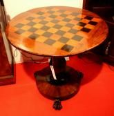 Very Good Quality William IV Inlaid Rosewood Chess Table