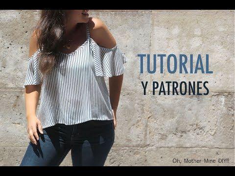 DIY Costura de blusa sin hombros mujer (patrones gratis) | Manualidades