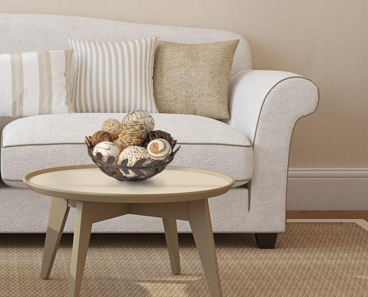 En tu sala no puede faltar decoración para las mesas.
