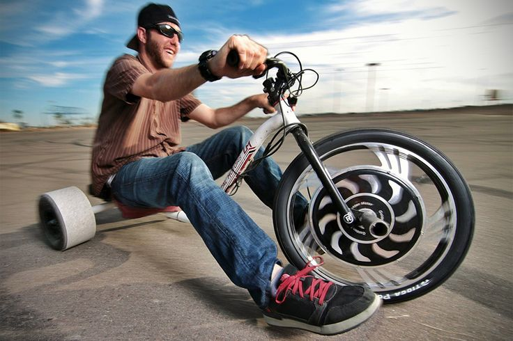 Verrado Electric Drift Trike By Local Motors - drift trike takes on a new twist, let you ignore the need for slopes or slippery surfaces.
