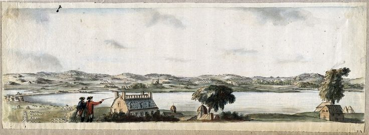 Richard Williams, [Boston Neck, with the British lines and John Hancock's house], 1775. (Richard H. Brown Revolutionary War Map Collection)