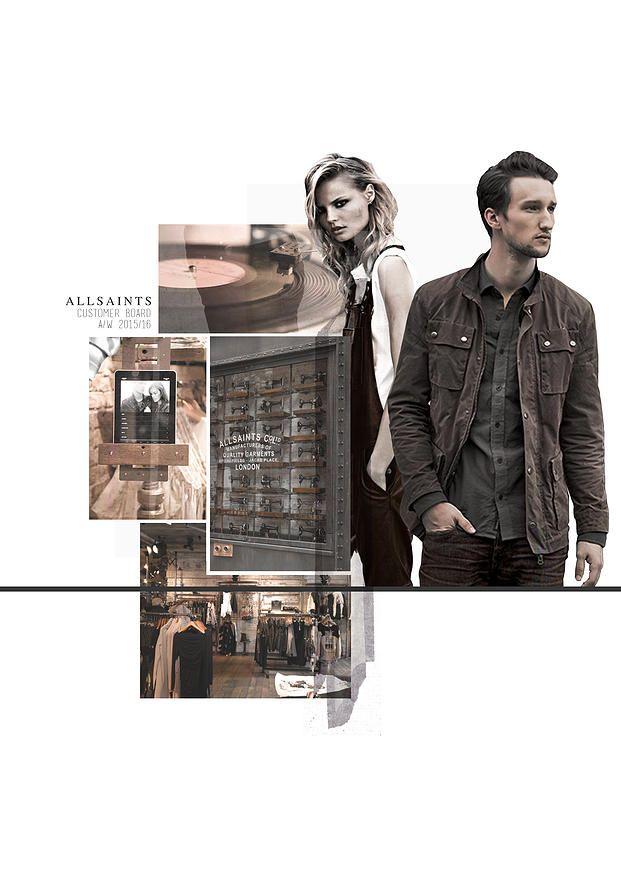 BOONSITA SINGHTOTHONG | ALLSAINTS: DUTY.  fashion design, fashion, portfolio, layout, art, drawing, sketching, customer board