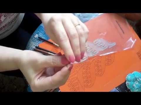 Encaje de bolillos: Como utilizar la aguja duquesa por lamacaterine - YouTube
