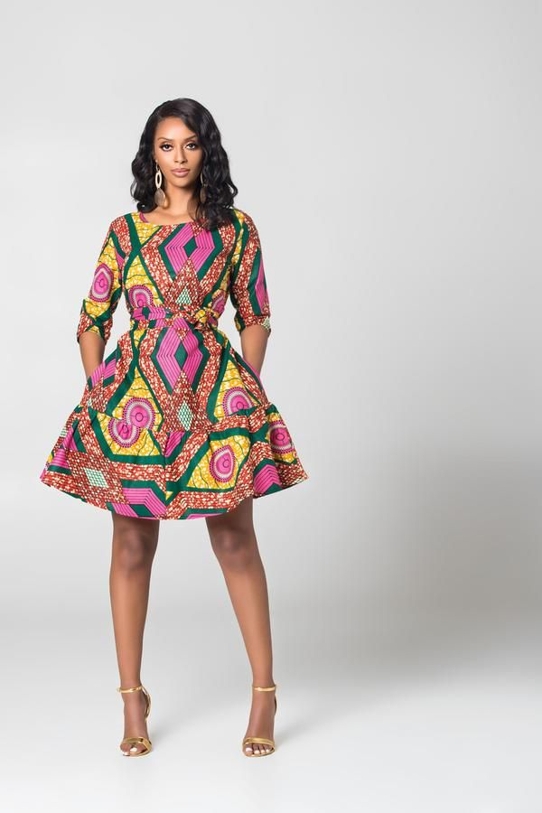 90a30558c4a3e African Print Paloma Midi Dress | African print outfits in 2019 ...