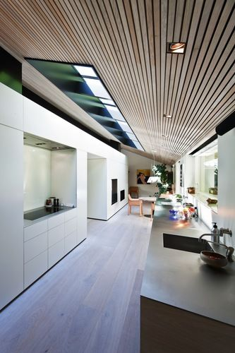 Beautiful fitted kitchen with a nordic style.