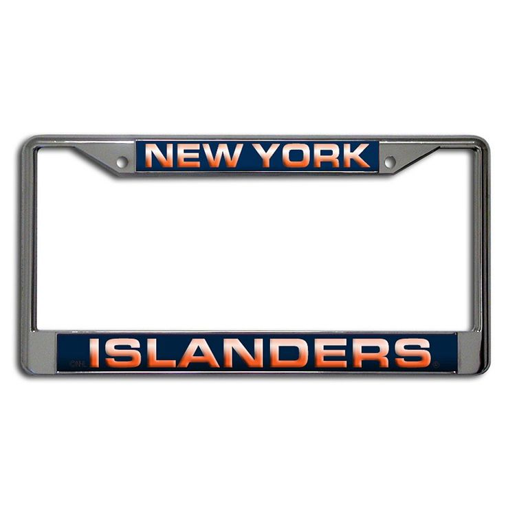 New York Islanders License Plate Frame, Multicolor
