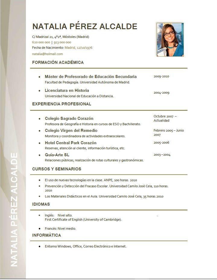 Curriculum Para Profesor Creamos Curriculums Especiales Para Profesores Entra A Nuestra Web El Baixar Modelo De Currículo Modelo De Currículo Modelo De Casa