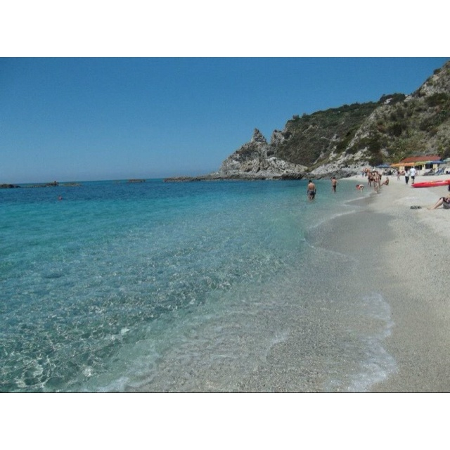Spiaggia di Grotticelle a Capo Vaticano