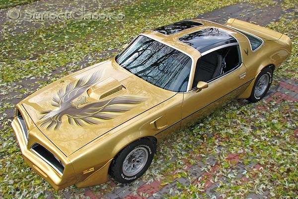 I'm getting my Smokey and the Bandit fix with this gold 1978 Pontiac Trans-Am :)