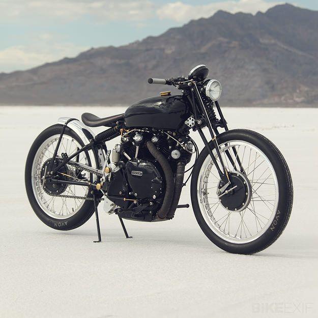 Jeff Decker: Vincent Of Onofrio, Motorcycles, Black Lightning, Bonnevil Salts, Riding, Motorbikes Galleries, Flats, Vincent Black, Jeff Decker