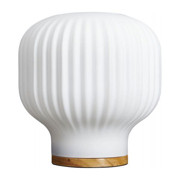 Baja Lampe De Table 19cm En Verre Blanc Avec Images Marie