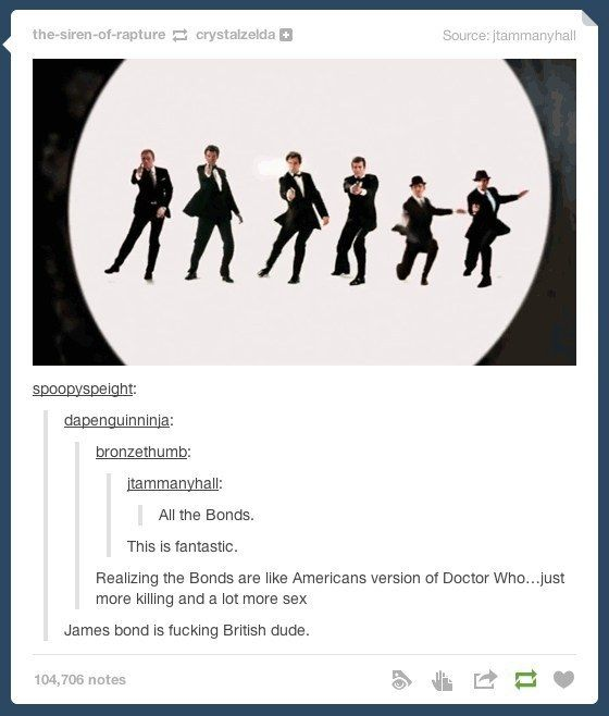 When someone needed a quick reminder exactly who James Bond was. | 29 Times Tumblr Completely Got What It Means To Be British