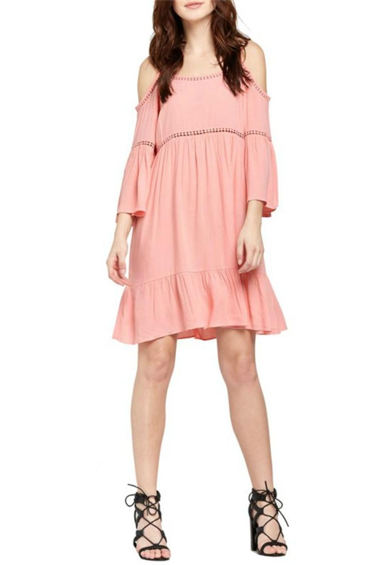This Light and Comfy Pink Peasant Dress is perfect for those warm days and nights. Pair it with tie up sandals for a casual look or wedges for a dressier look.  Pink Peasant Dress by Soprano. Clothing - Dresses Hawaii