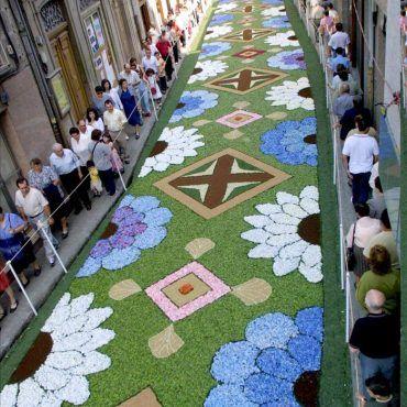 Mejores 49 im genes de alfombras de flores naturales en - Alfombras toledo ...